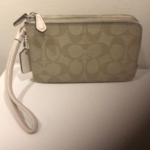 Coach Double Zip Wristlet Mint Condition